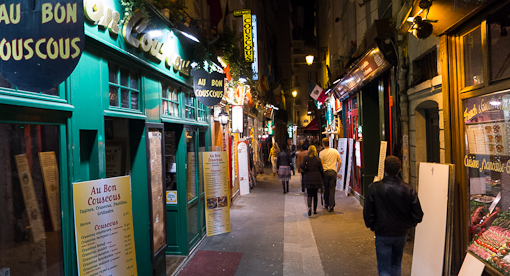 There are many restaurants (Greek, Italian, French, Asian, Indian ...